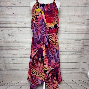 Lane Bryant Floral Asymmetrical Maxi Dress